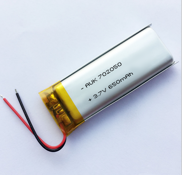 Li-ion type and rechargeable Prismatic Lipo batteries 3.7V 650mah