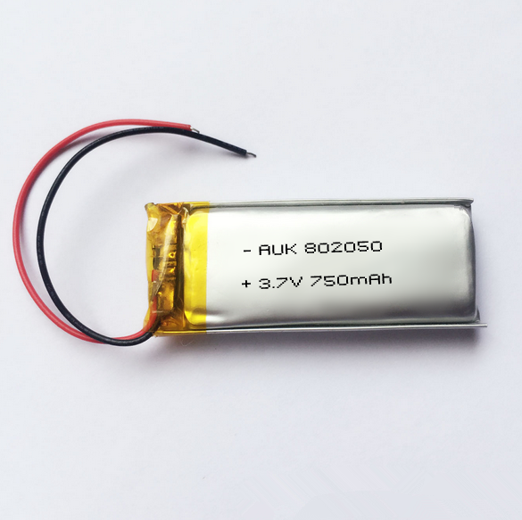 lipo battery 750mah 3.7v lithium polymer 802050 recharge batteries