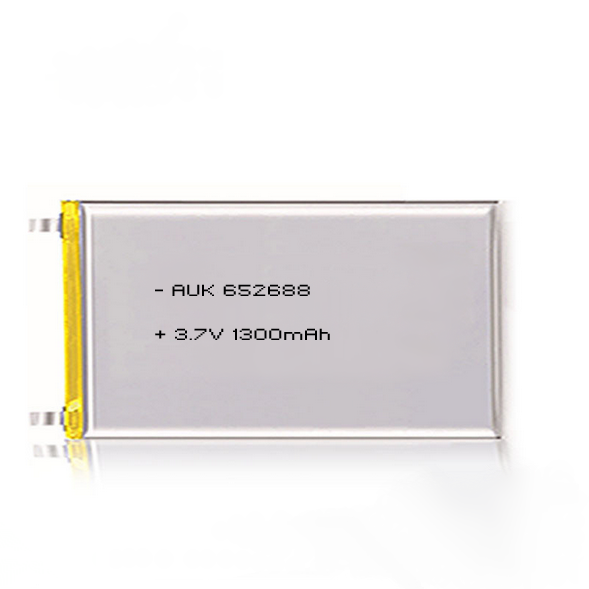 Rechargeable 3.7V Lithium Polymer Battery 1300mah Lipo Battery 3.7v 652688 for GPS Device