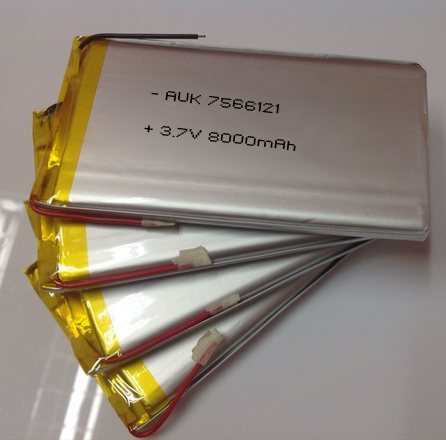 lipo battery 8000mah 7566121 3.7v for power bank